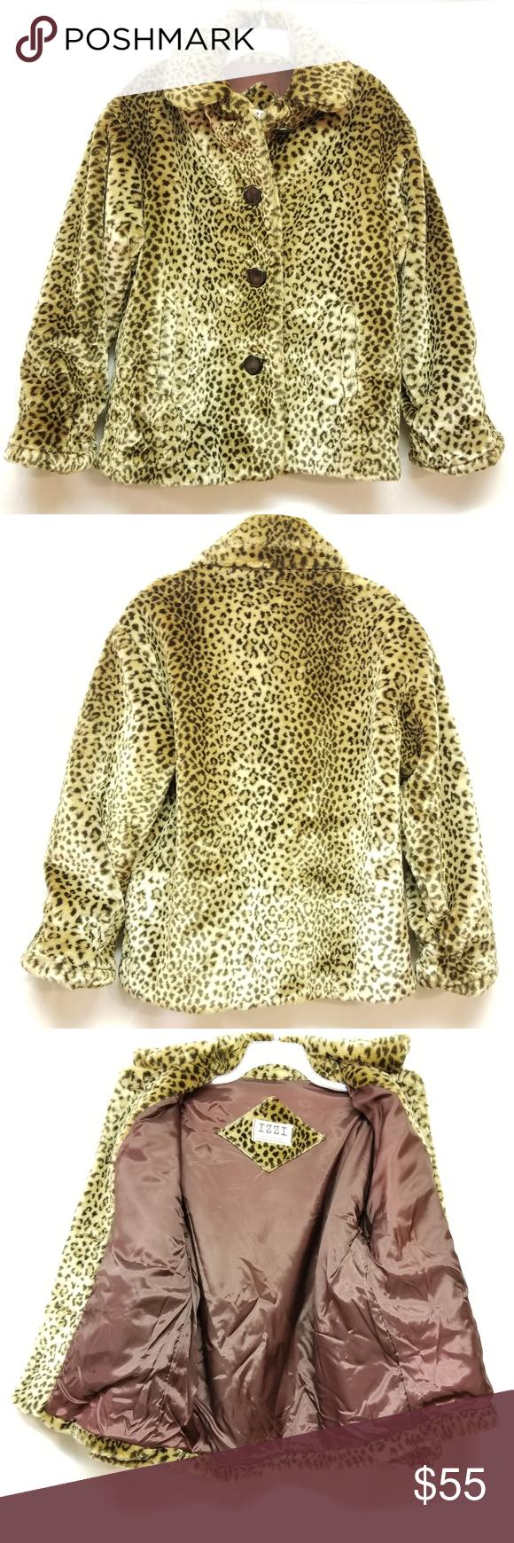 Izzi Outerwear Leapord Print Coat Print Coat Clothes Design Fashion [ 1740 x 580 Pixel ]