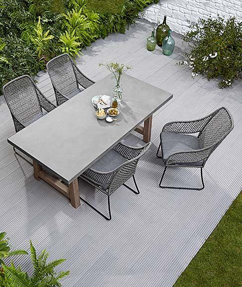 Terrassenmöbel, Sitzmöbel Terrasse, Tisch und Stühle für die