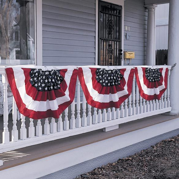 Patriotic American Flag Bunting | The block, The o'jays and Decks