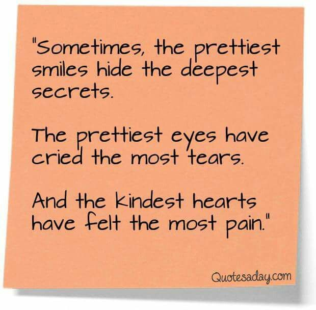 Very true.... One never knows until they walked a mile or two in someone elses shoes...