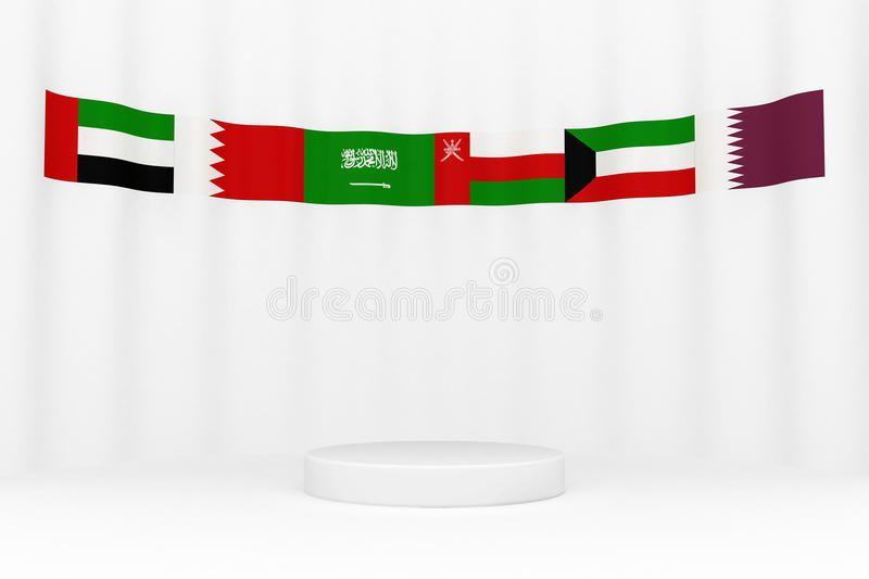 Gcc Flags Around A Platform Spon Gcc Flags Platform Ad Flag Stock Illustration Illustration