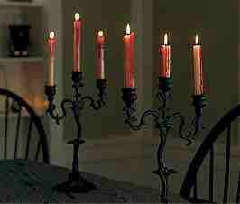 Halloween Light Up Candle Candelabra Fancy Dress party Decoration Prop Spooky