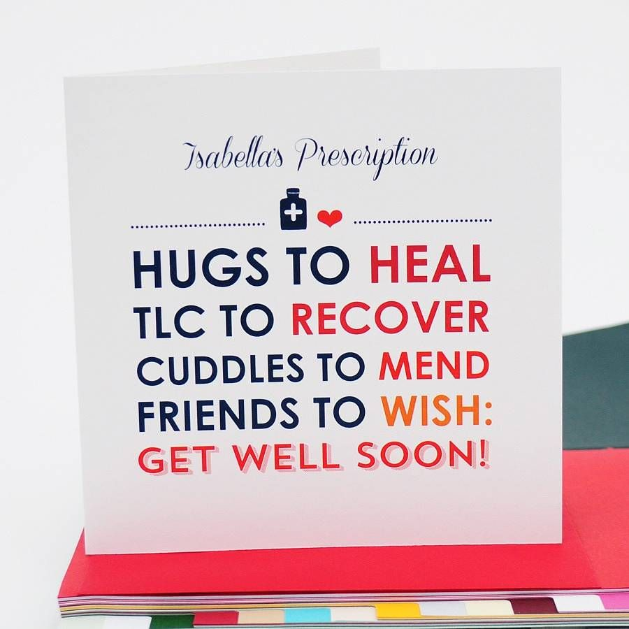 Personalised Get Well Soon Card Card Ideas Pinterest Get