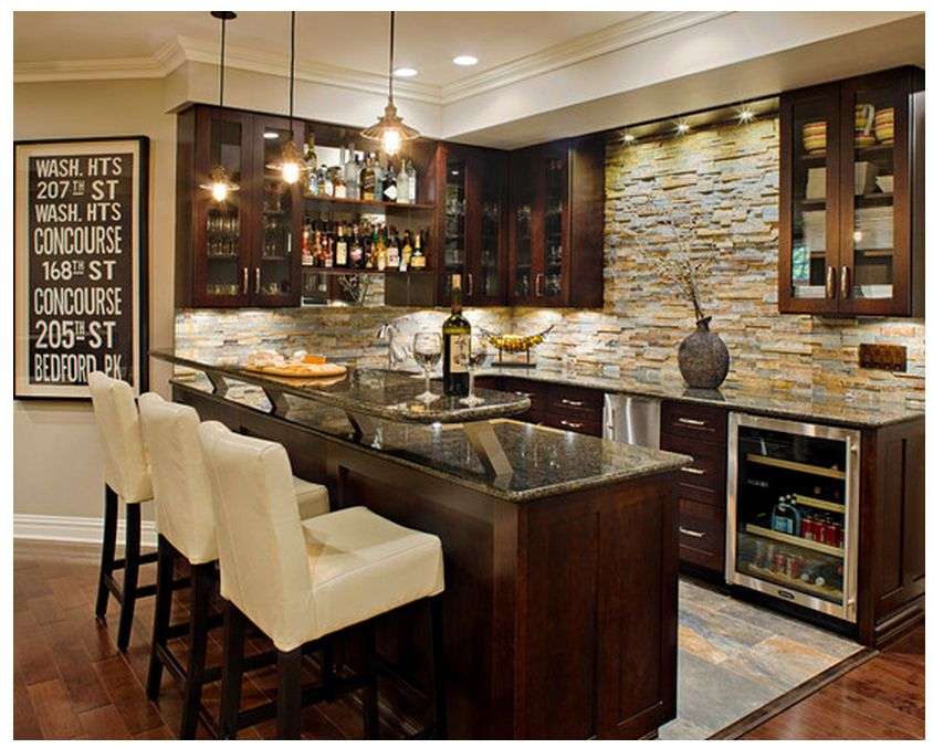 stunning Houzz Basement Bars Part - 1: Found on Houzz.com.... a cozy little bar. Basement ...