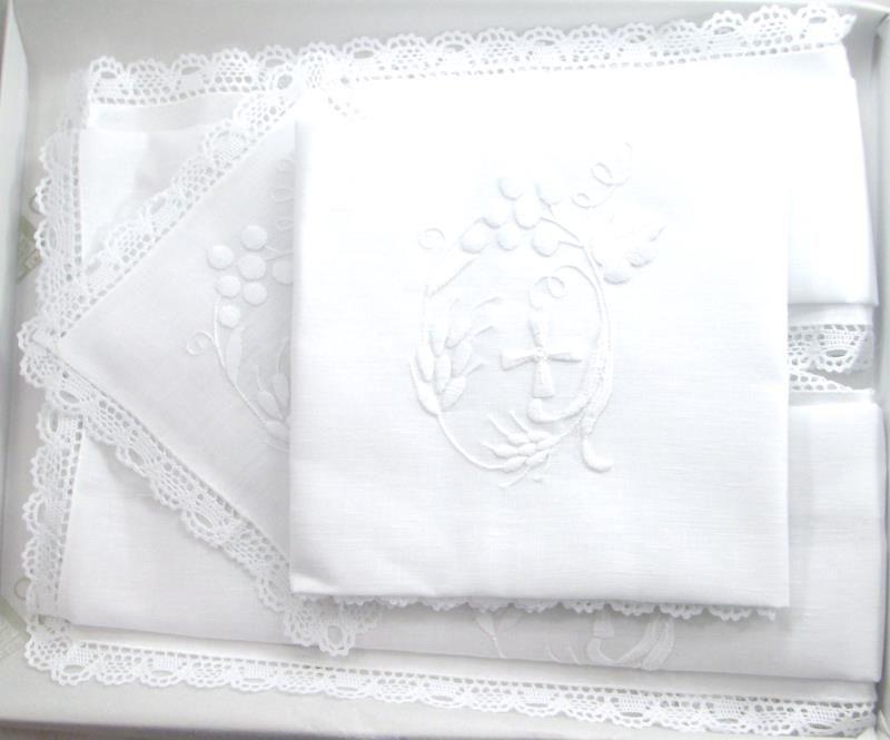 Servizio messa in lino 4 pezzi servizi da messa semprini arredi