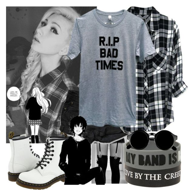 """He smiled"" by natsuko-yuuki ❤ liked on Polyvore featuring moda, Levi's, Dr. Martens, Rails e Retrò"
