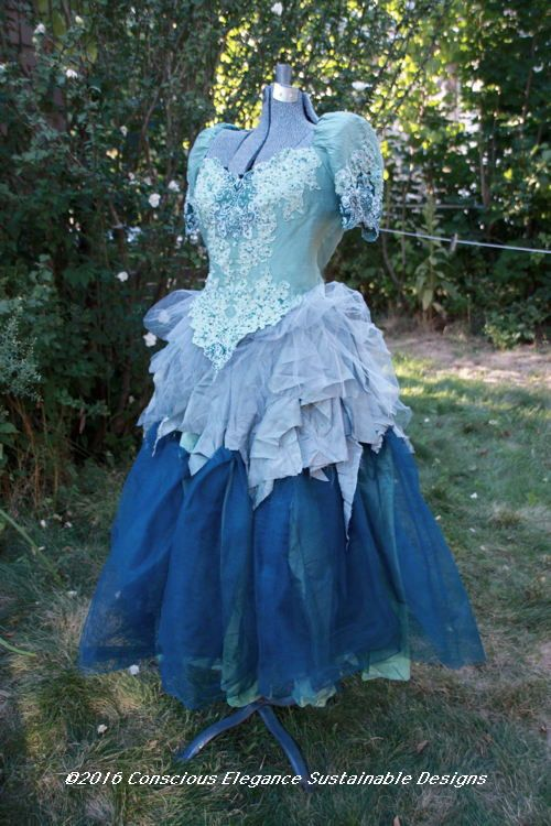 Adult Naiad Faerie Ensemble Sea Green Top + Skirt Fits Sizes 6 to 12 Hand-dyed One of a Kind perfect for Cosplay, Fairy Wear and Festivals.