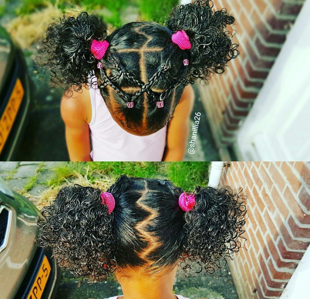 Different and super cute for a natural hair little girl girl