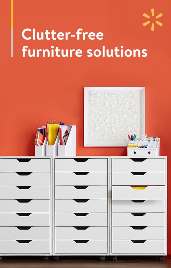 Shut the drawer on clutter with furniture ideas from Walmart.com. These streamlined solutions are perfect for your home office, playroom or craft corner. Discover the style that's right for your home today.