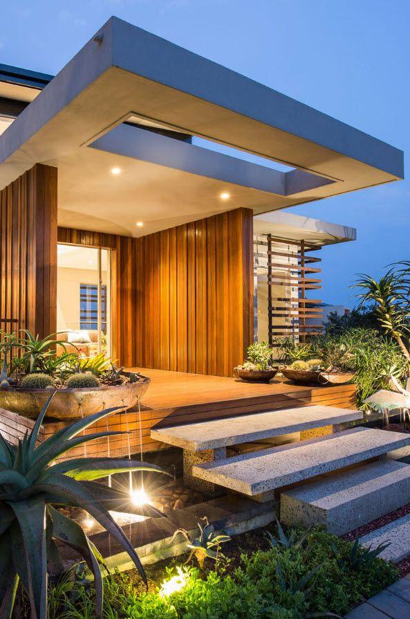 Dise o de fachada de casa moderna con fotos sustentables Arquitectura y diseno de casas modernas