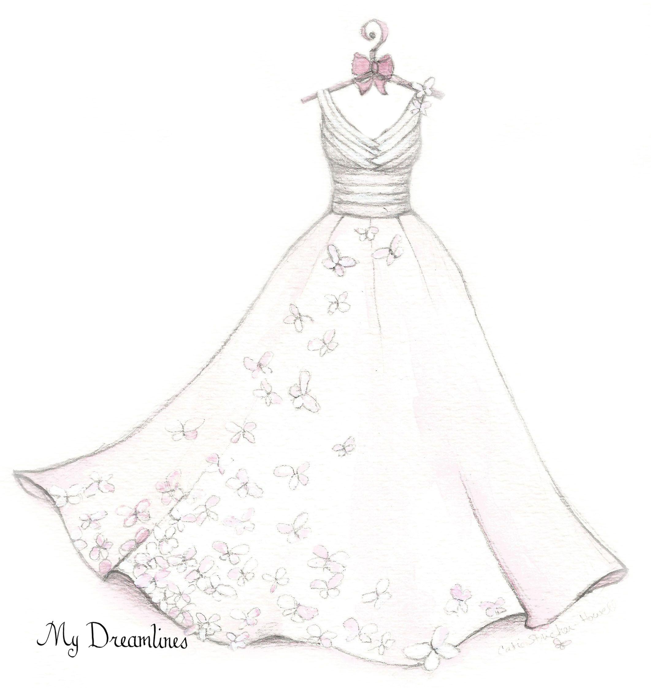 Pin On A Wedding Dress Sketch By Dreamlines