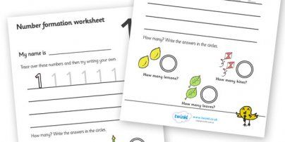 Number Formation Worksheets Lots of other sheets too
