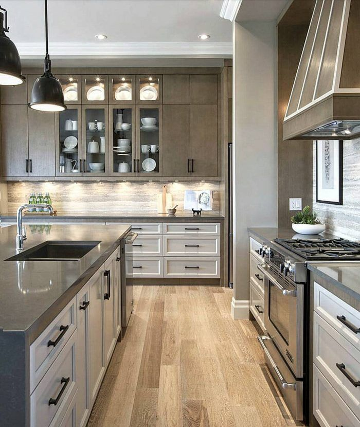 Two Color Kitchen Cabinets Design Inspiration Modern Kitchen Design Photo By Grace R Lovefordesigns 7183 3