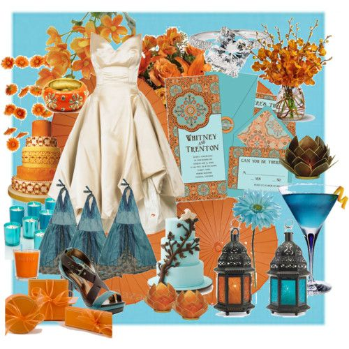 Little Bit Of An Obsession With Orange And Blue Weddings