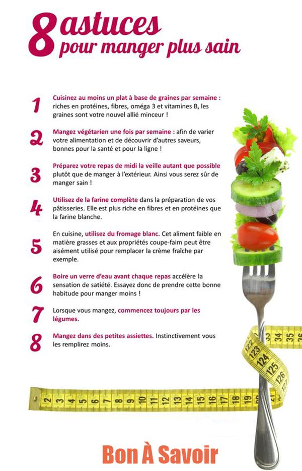 8 conseils pour manger plus sainement