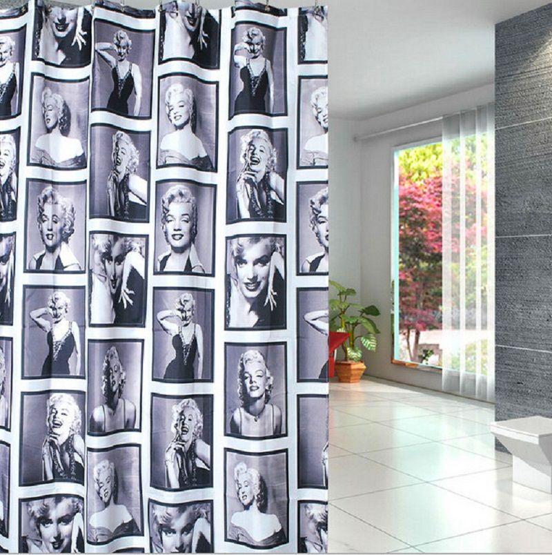Beautiful Marilyn Monroe Pattern Waterproof Fabric Bathroom Shower