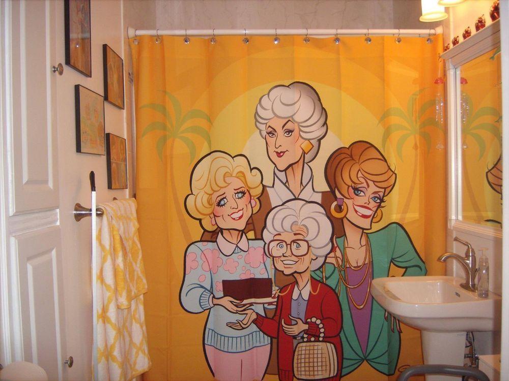 Glen Hanson Golden Girls Shower Curtain Bea Arthur Betty White