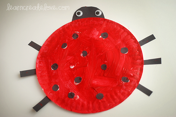 Ladybug paper plate project & Ladybug paper plate project | Kid Activities and Crafts | Pinterest ...