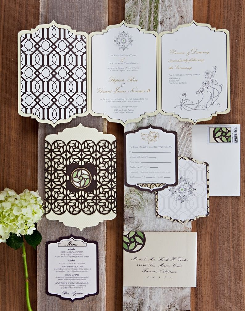 A touch of Luxe: Wedding inspiration: Moroccan inspired invitations ...