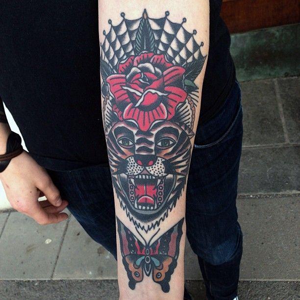 Traditional Tiger Tattoo.