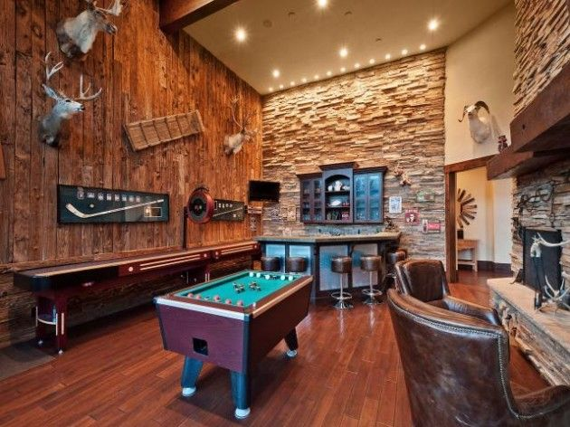 Man Cave With Game Area And Bar Man Cave Games Best Man Caves