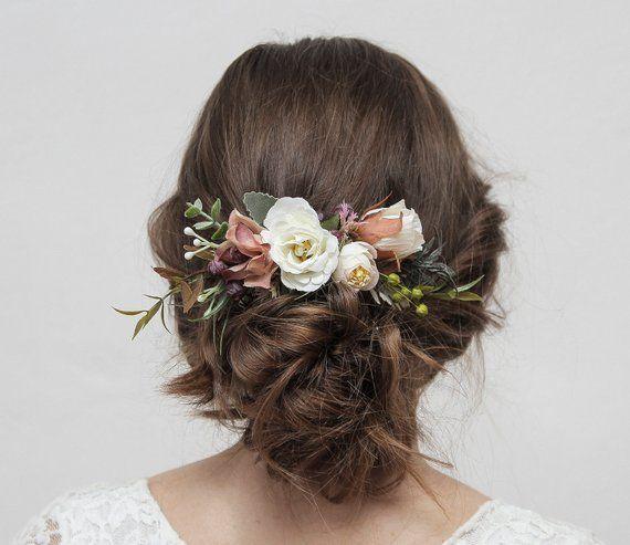 Boho Braut Haarkamm, rustikale Hochzeit Kamm, Braut Kamm, Blume Kamm, Herbst Hoc... - #Blume #Boho #Braut #Haarkamm #herbst #Hoc #Hochzeit #Kamm #rustikale #bridalhairflowers