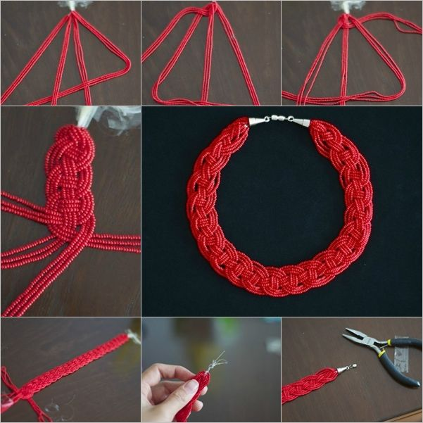 handmade bulge bead necklace tutorial free - Google Search