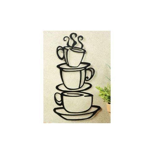 Amazon.com: Coffee House Cup Java Silhouette Wall Art Metal Mug: Home & Kitchen