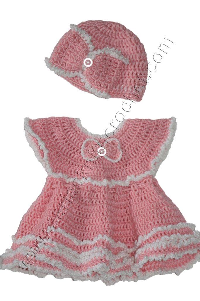 PINK Princess Ruffled Dress for Newborn Girls Dress | cute baby ...