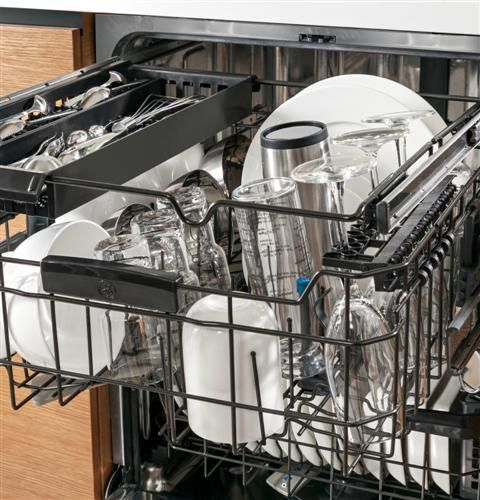 Ge Profile Series Stainless Steel Interior Dishwasher With Hidden Controls Pdt760ssfss Dishwasher Racks Commercial Dishwasher Modern Dishwashers
