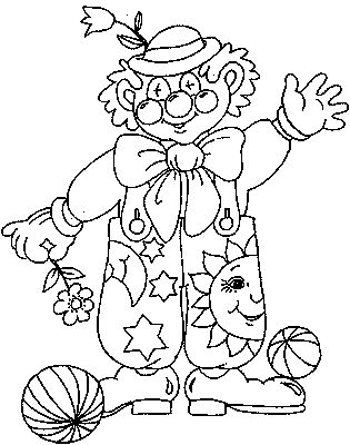 Coloring Pages For Kids To Print Clowns And Circus