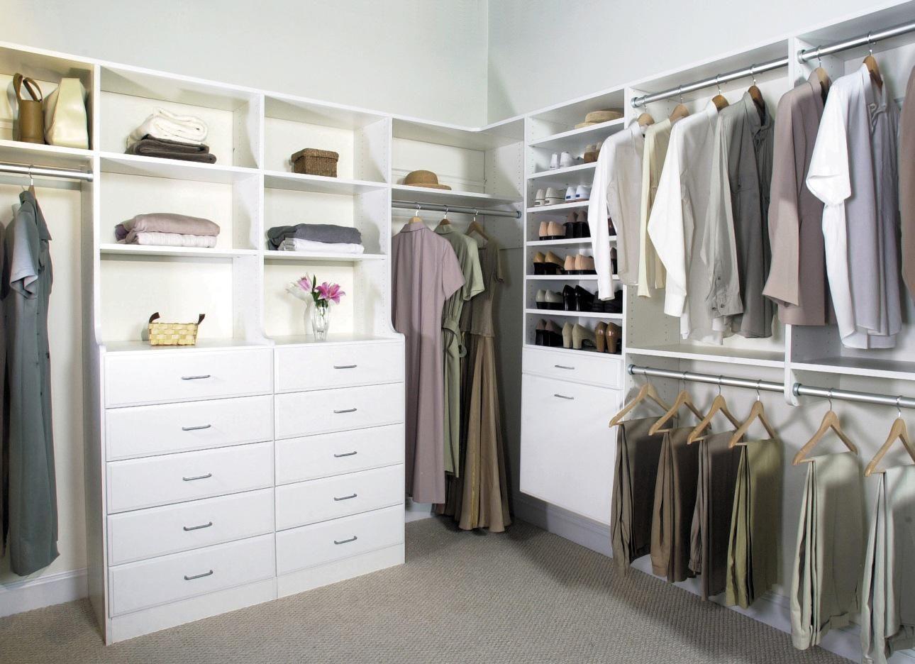 L Shaped Closet Organizer Designs And Plans Amazing Closet