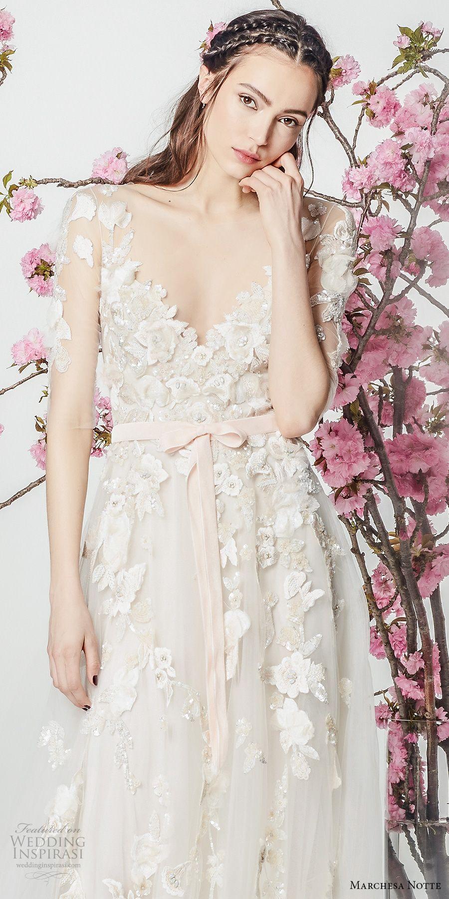 Marchesa notte spring wedding dresses tulle skirts marchesa