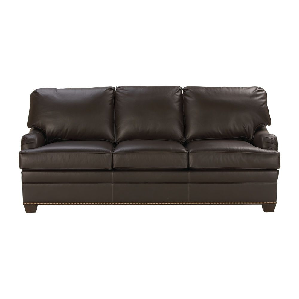 Paramount Sofa Ethan Allen Wooden Living Room English Arm Leather Us