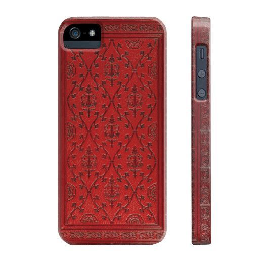 Red Antique Book Cover Print Phone Case