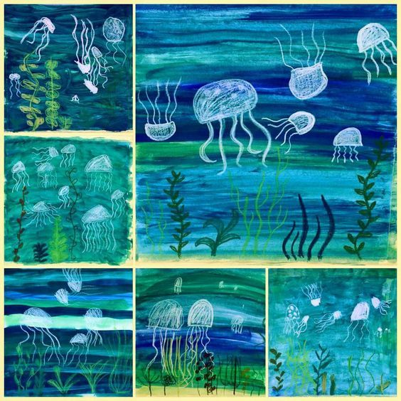 Unterwasserwelt | Kindergarten-kunst, Frühling kun