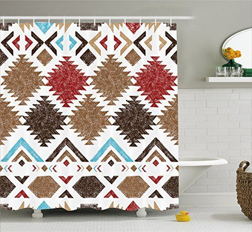 Bathroom Rugs Ideas Native American Decor Shower Curtain By