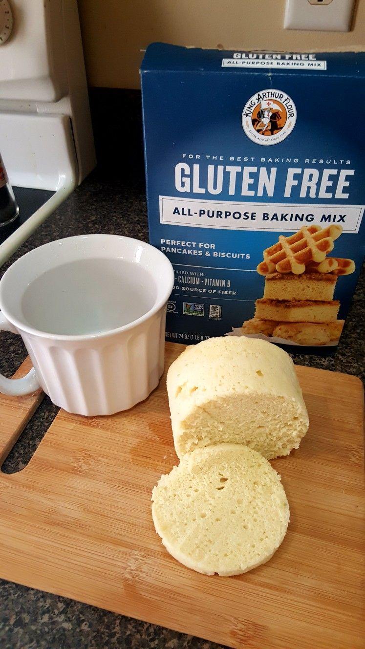 Great Gluten Free Mug Bread 1 3 C King Arthur All Purpose Gluten Free Baki G Mix 1 Tbs Coco Gluten Free Mug Cake Gluten Free Deserts Non Inflammatory Foods