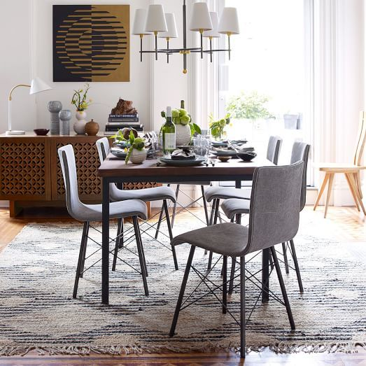 Attractive Industrial Dining Table | West Elm