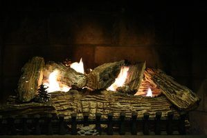 How To Use A Gas Fireplace With A Key Hunker Gas Fireplace Logs Gas Fireplace Insert Ventless Fireplace