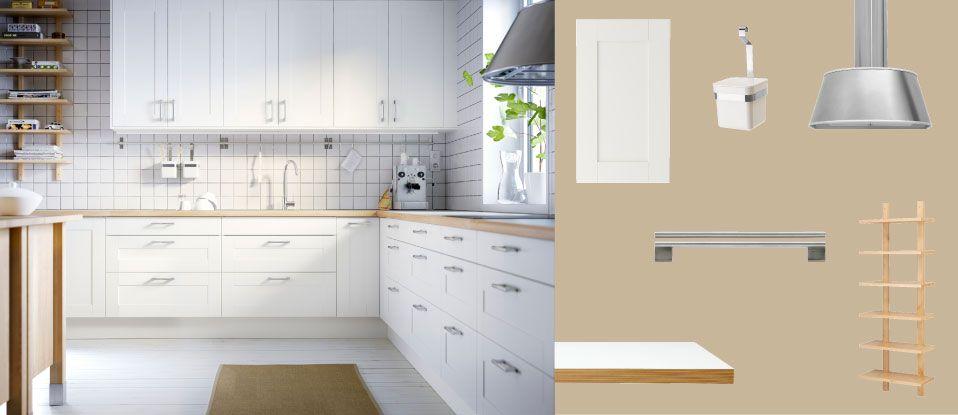 varde betulla kitchen b Pinterest Kitchens, White wood and - ikea k che faktum wei hochglanz