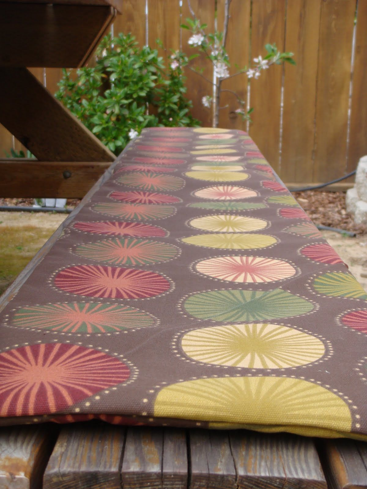 Swell Picnic Bench Seat Cover A Tutorial By Generationsue Grad Andrewgaddart Wooden Chair Designs For Living Room Andrewgaddartcom