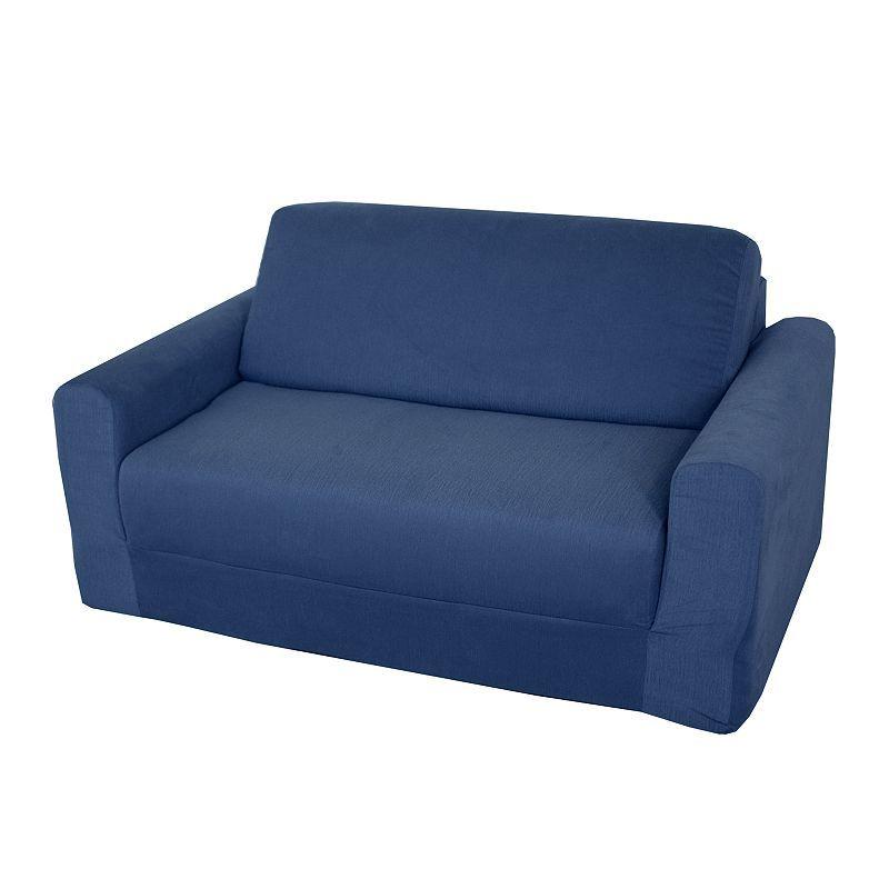 Fun Furnishings Blue Denim Sleeper Sofa Kids Multicolor