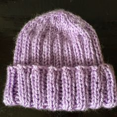 Ribbed Knitted Baby Hat Free Pattern   4 yarn 5mm circular needles (I used  24