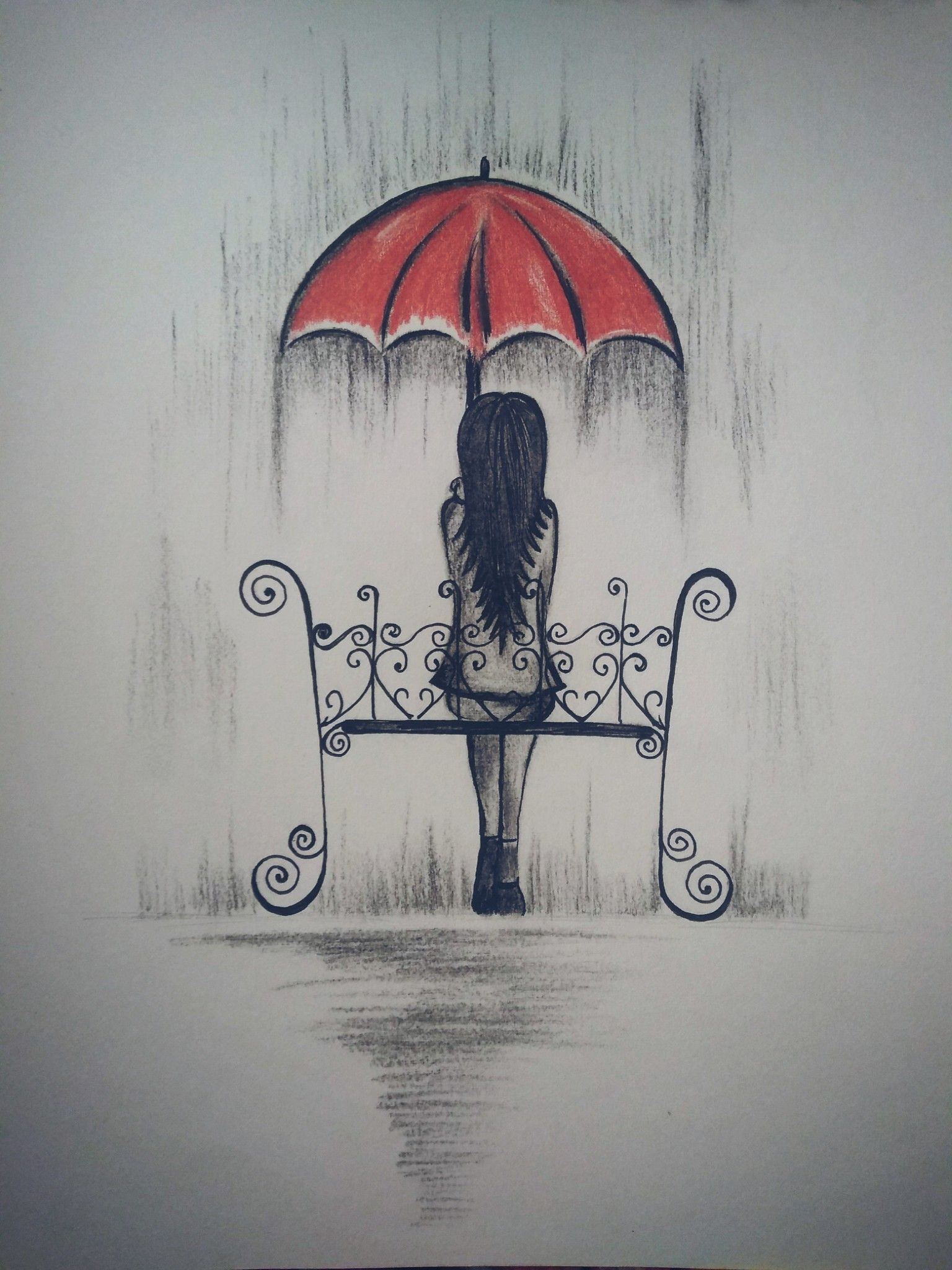 On a rainy day painting art drawings pencil drawings drawings