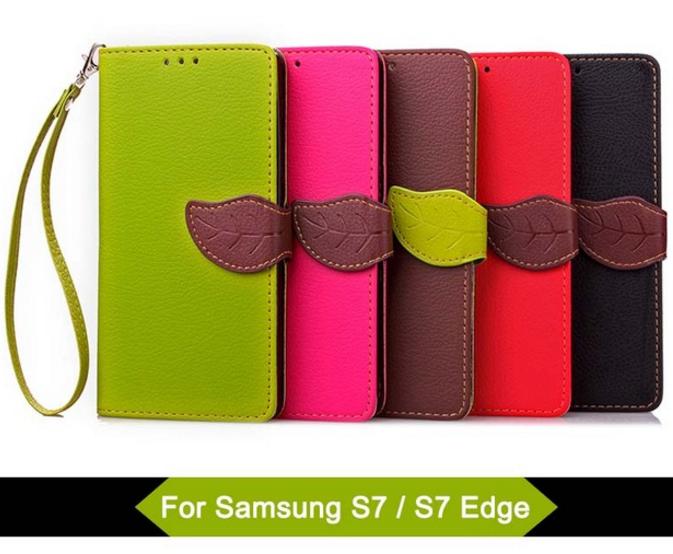 Samsung Galaxy S7 S7 Edge Leaf Clasp Wallet Case For Samsung Galaxy S6 Edge Plus Case Cover S7 Edge Leather Wallet Case Pu Leather Wallet Leather Phone Case