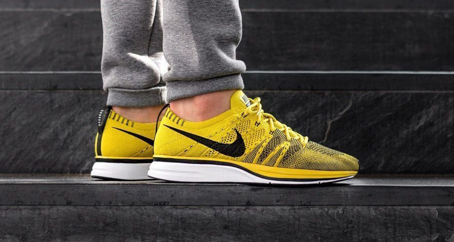 watch aaf12 e282d An On-Feet Look At The Nike Flyknit Trainer Bright Citron  gymoutfits