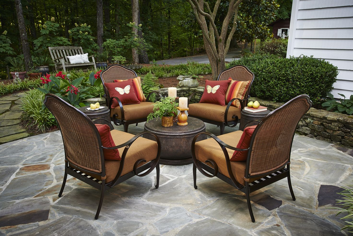 """Sit in the sanctuary of a fine afternoon..."" - Peak ... on Fine Living Patio Set id=65254"