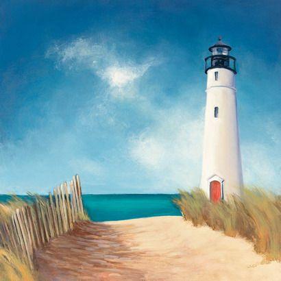 Down The Path Beach Lighthouse Pintura Nautica Pintura Em