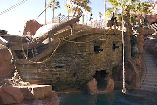 pirate ship pool. hubby